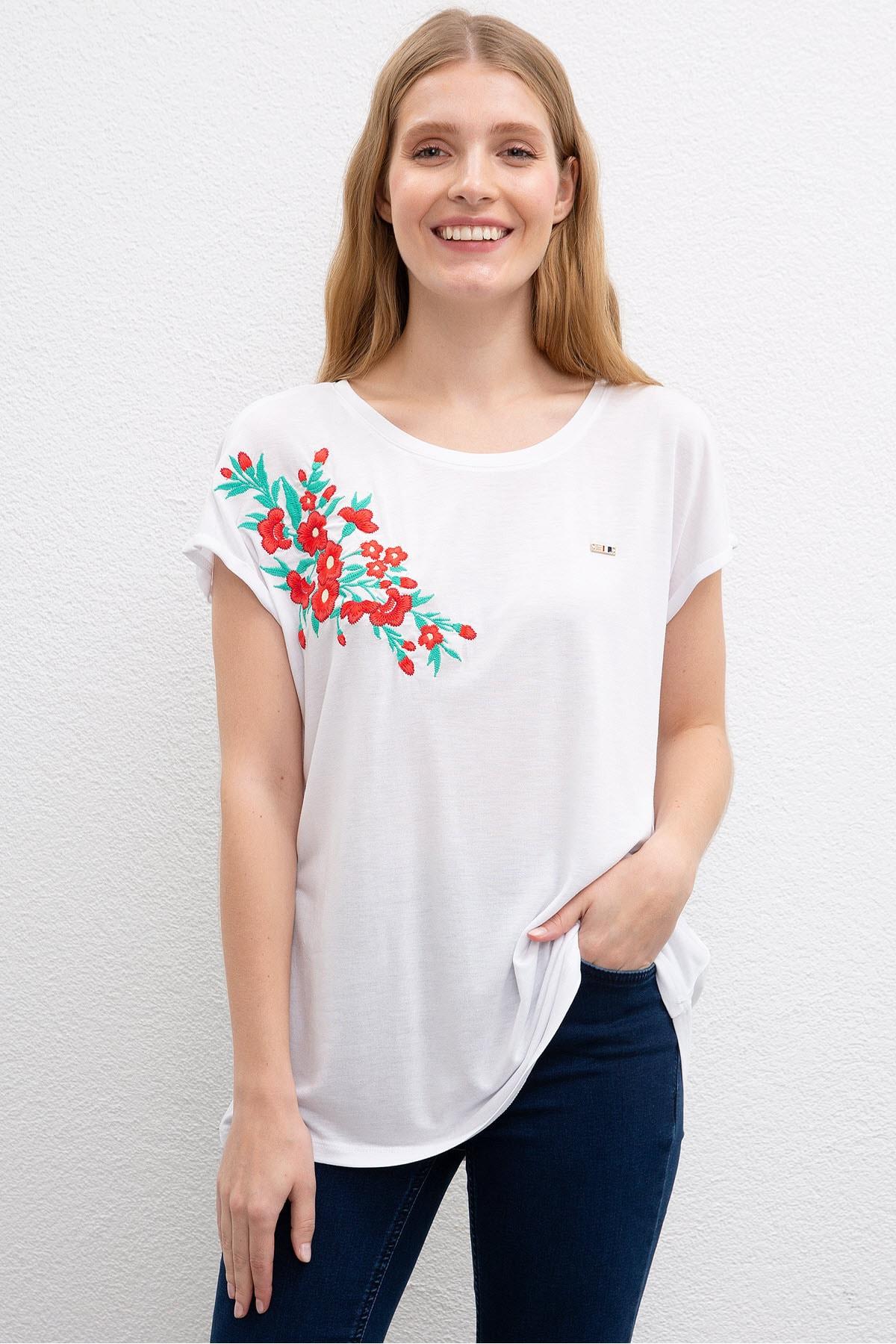 US Polo Assn Beyaz Kadin T-Shirt
