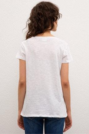 US Polo Assn Beyaz Kadin T-Shirt 2