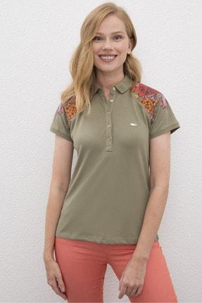 US Polo Assn Yeşil Kadin T-Shirt 0