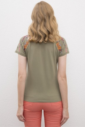 US Polo Assn Yeşil Kadin T-Shirt 2