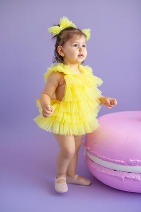 Picture of Sarı Kız Bebek Tulum Coco Bonbon