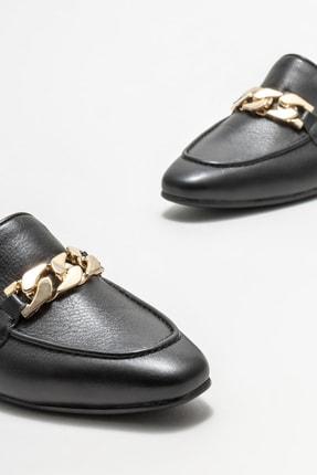 Elle Kadın Siyah Deri Loafer 2