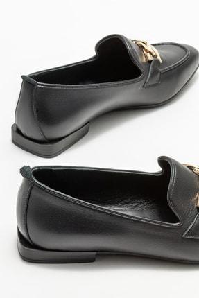 Elle Kadın Siyah Deri Loafer 3