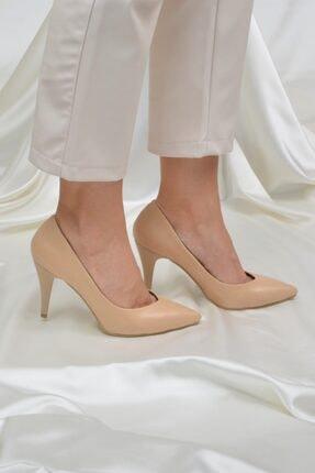 Kadın Ten Topuklu Ayakkabı 9 cm ETO-0014