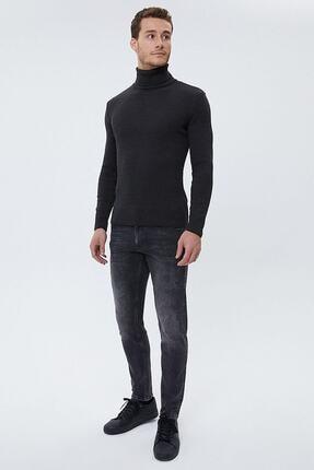 Picture of Erkek Antrasit Taşlı Kot Pantolon