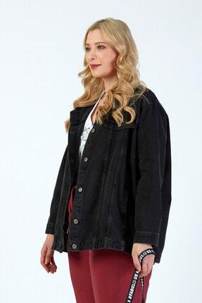 Büyük Moda Kadın Antasit Kot Ceket 2