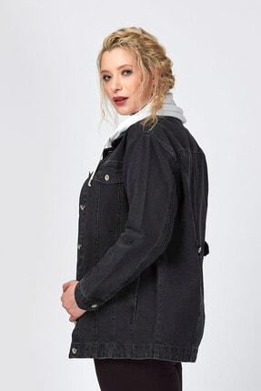Büyük Moda Kadın Antasit Kot Ceket 3