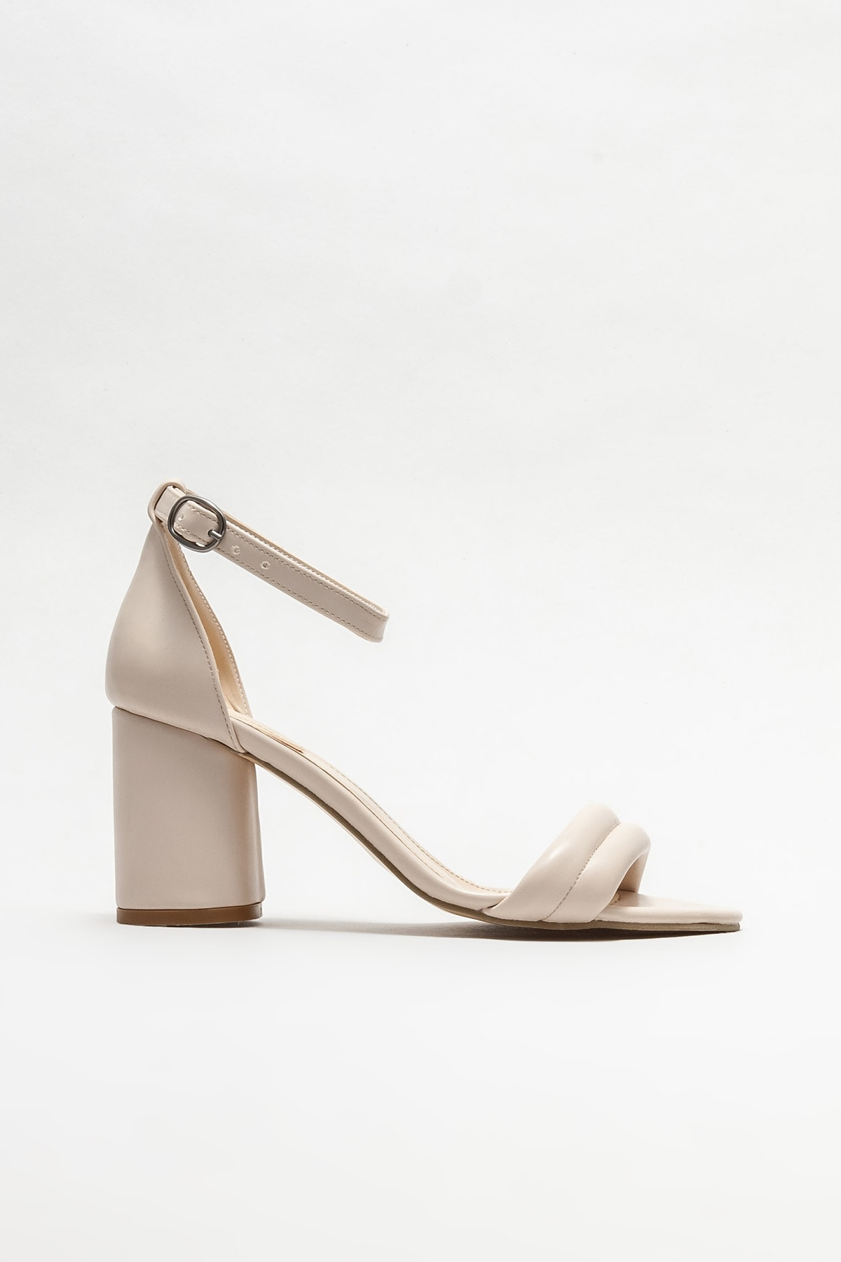 Bej Kadın Topuklu Sandalet