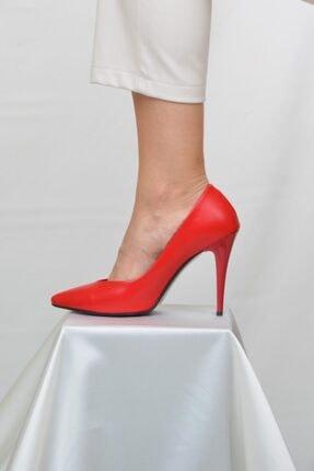 ETO Kadın Kırmızı 10 cm Topuklu Ayakkabı 4