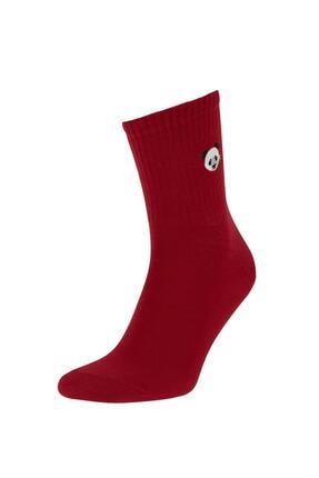 Defacto Desenli Kutulu 5'li Uzun Çorap 4