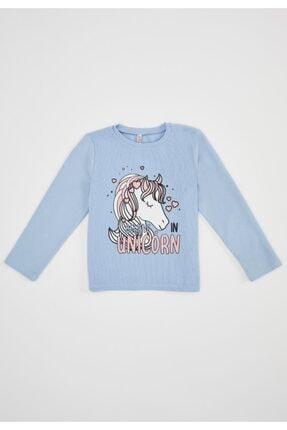 Defacto Kız Çocuk Unicorn Selanik Kumaş Sweatshirt 0