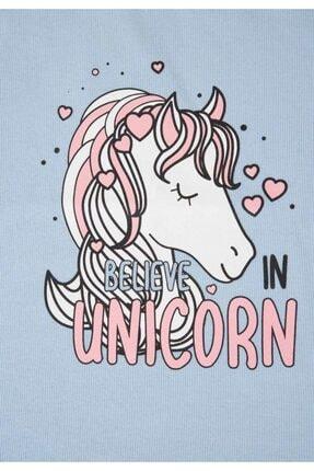 Defacto Kız Çocuk Unicorn Selanik Kumaş Sweatshirt 4