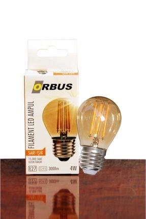 ORBUS Dekoratif Amber Sarı Işık 4w Led Ampul 0
