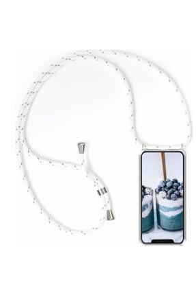 Unity Iphone 11 Şeffaf Boyun Askılı Silikon Kılıf 0
