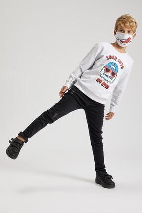 Defacto Erkek Çocuk Baskılı Sweatshirt Ve Maskeli Takım 2