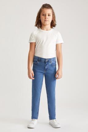 Defacto Erkek Çocuk Mavi Slim Fit Jean Pantolon 1