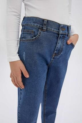 Defacto Erkek Çocuk Mavi Slim Fit Jean Pantolon 2