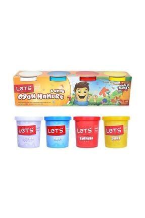 Toys Lets Oyun Hamuru Normal Renkler 4 Renk 600 G ( Kırtasiye) 0