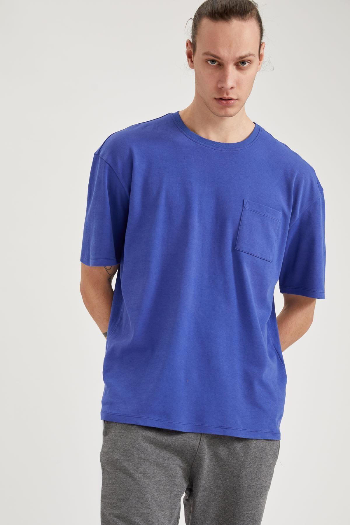 Defacto Oversize Fit Bisiklet Yaka Basic Tişört