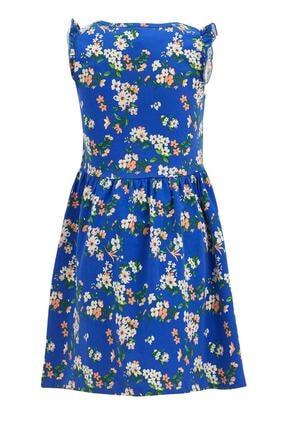Defacto Kız Çocuk Çiçek Desenli Kolsuz Elbise 1