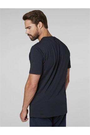 Helly Hansen Hh Logo Erkek T-shirt Lacivert 3