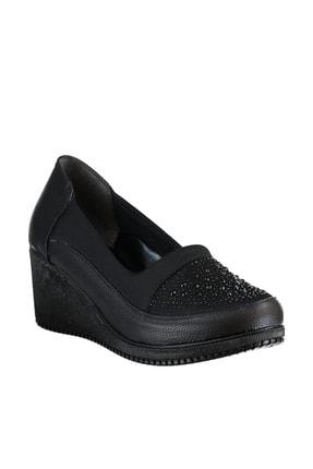 Soho Exclusive Siyah Kadın Dolgu Topuklu Ayakkabı 15979 4