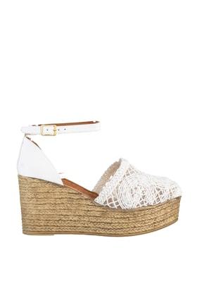 Soho Exclusive Beyaz Kadın Dolgu Topuklu Ayakkabı 16041 3
