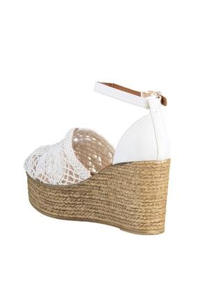 Soho Exclusive Beyaz Kadın Dolgu Topuklu Ayakkabı 16041 4