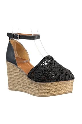 Soho Exclusive Siyah Kadın Dolgu Topuklu Ayakkabı 16041 4