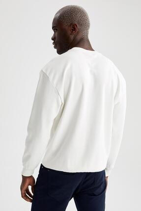 Defacto Oversize Fit Bisiklet Yaka Pamuklu Basic Sweatshirt 3