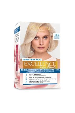 L'Oreal Paris Excellence Creme Saç Boyası - 03 Ultra Açık Küllü Sarı 1