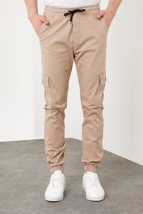 Enuygunenmoda Erkek Slim Fit Jogger Pantolon Bej 3