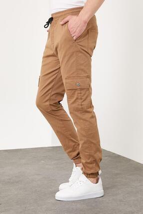 Enuygunenmoda Erkek Slim Fit Jogger Pantolon Sütlü Kahve 1