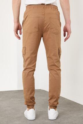 Enuygunenmoda Erkek Slim Fit Jogger Pantolon Sütlü Kahve 4