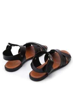 PNR TERLİK Kadın Siyah Sandalet Cırtlı Gündelik 2