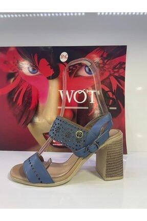 Kadın Mavi Topuklu Ayakkabı SB023