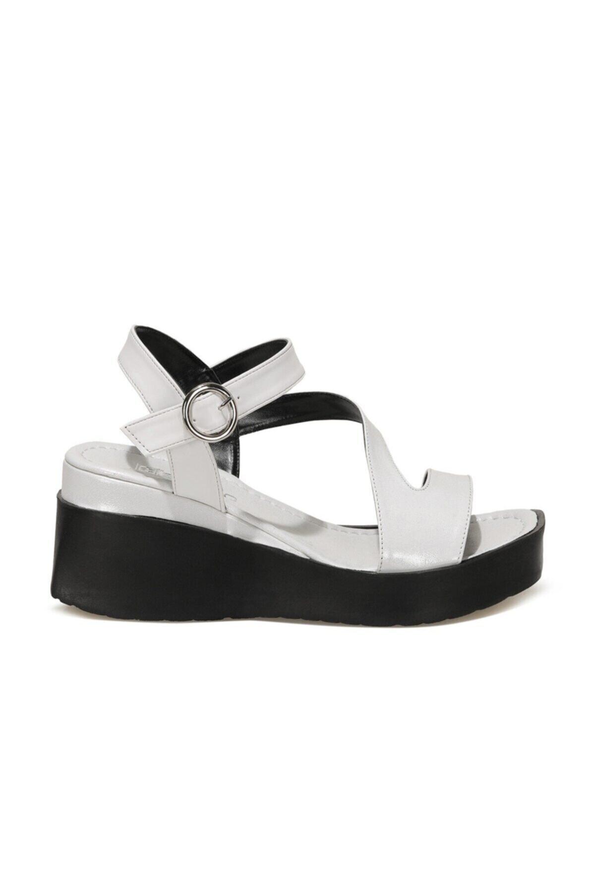 LOUİSE 1FX Beyaz Kadın Dolgu Topuklu Sandalet 101061756