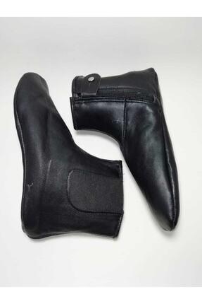 Gezer Unisex Siyah Astarlı Koyun Derisi Mest Çorap Koyun Derisi Lastikli Miflonlu Mest Astarlı Koyun 0