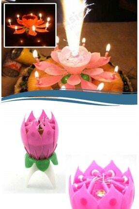 Huzur Party Store Pembe Renk Happy Birthday Melodili Müzikli Sihirli Kendinden Açılan Doğum Günü Pasta Parti Mumu 1