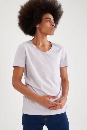 Defacto Slim Fit V Yaka Basic Kısa Kollu Tişört 4