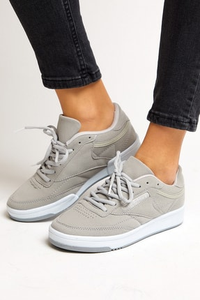 Tonny Black Gri Süet Unisex Sneaker TB107-0 3