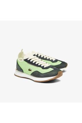 Lacoste Match Break 0721 1 G Sfa Kadın Açık Yeşil - Beyaz Sneaker 741SFA0105 1