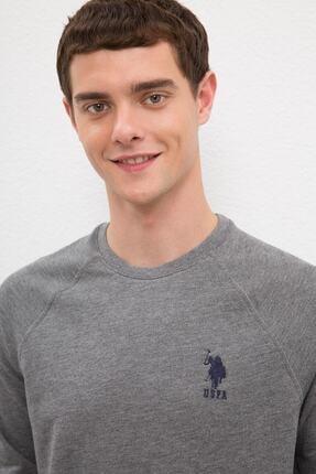 US Polo Assn Grı Erkek Sweatshirt 1