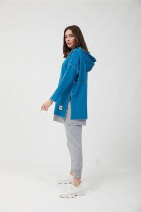 oia Kadın İndigo Pamuklu Tunik Pantolon Takım  W-0900 1