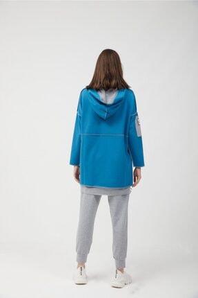 oia Kadın İndigo Pamuklu Tunik Pantolon Takım  W-0900 3