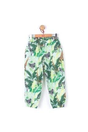 Picture of 56413 Kız Çocuk Yeşil Zebra Zürafa Pantolon