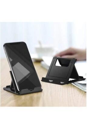 HADRON Ayarlanabilir Katlanır Masaüstü Plastik Mini Portatif Taşınabilir Cep Telefonu Tablet Standı Tutucu 0