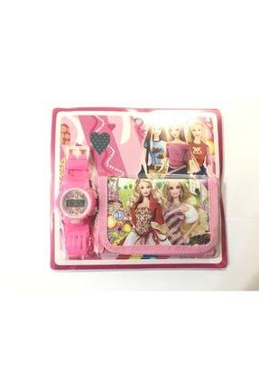Barbie Kız Çocuk Cüzdan Ve Dijital Saat Seti dop9405137igo