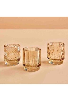 Bella Maison Drop Amber Tealight Mumluk (7x8 Cm) 1