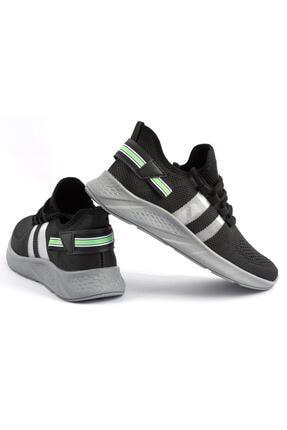 L.A Polo 136 Siyah Füme Yeşil Delikli Yazlık Erkek Spor Ayakkabı 4